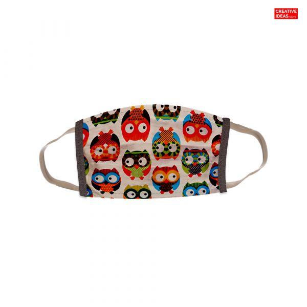 Donate & Get Kids Reusable Cotton Designer Super Mask (Pack Of 3)