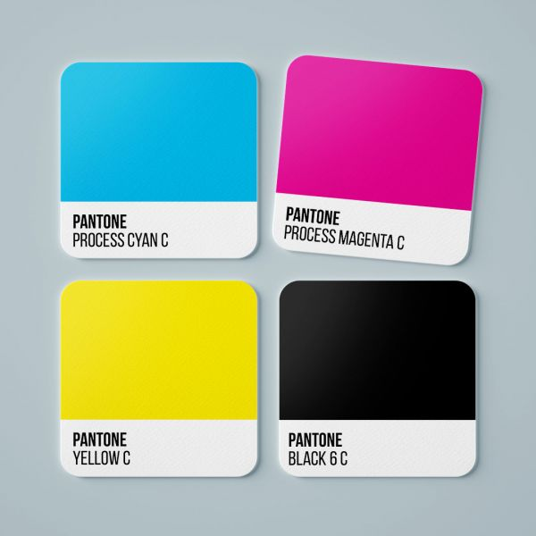 Pantone CMYK Square Tea Coaster by - Creative Ideas (Set Of 4)