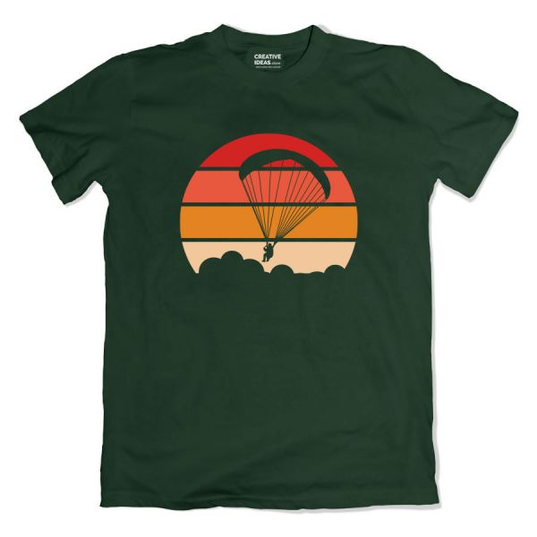 Paragliding Green Tshirt