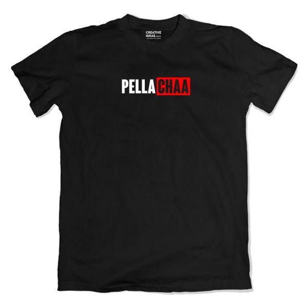 Pella Chaa - Bella Ciao Parody Black Tshirt