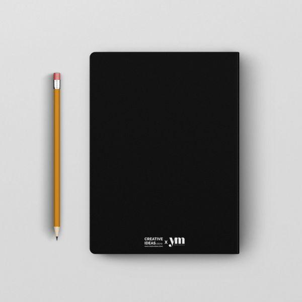 Grand Piano Black Notebook by Yashraj Mukhate