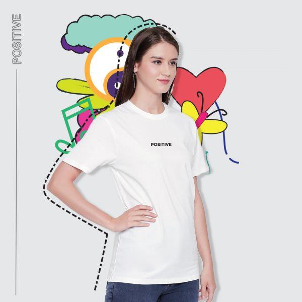 Be Positive White Tshirt