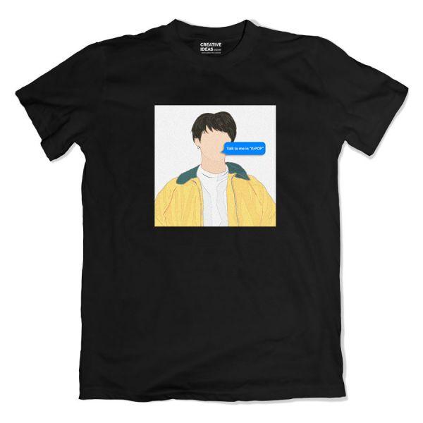 Talk To Me In K-Pop Black Tshirt