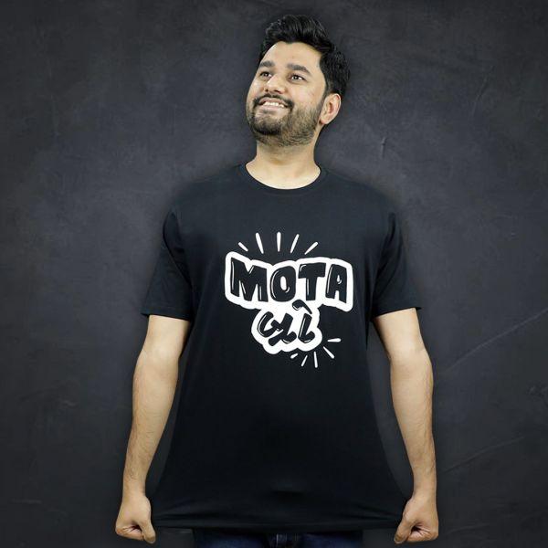 Mota Bro Unisex Black Tshirt by The Comedy Factory