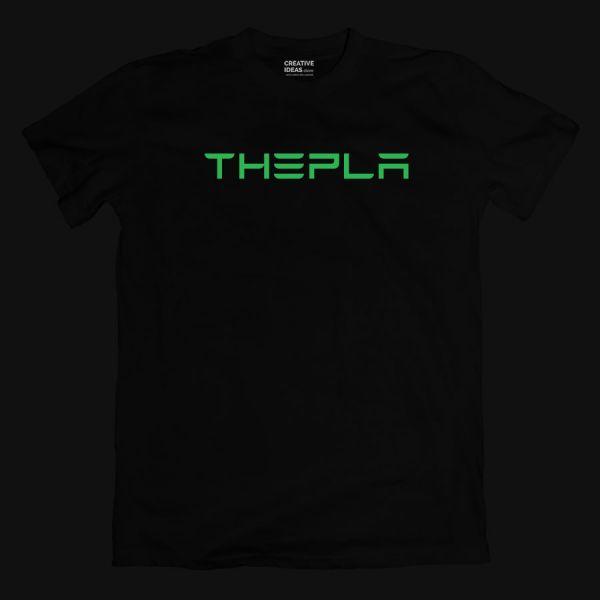 Musk Wanted Thepla Black Glow In The Dark Tshirt