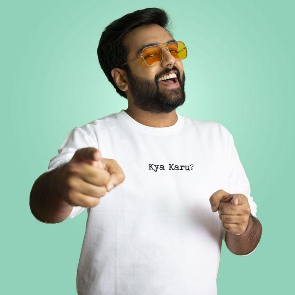 Kya Karu? White Sweatshirt by Yashraj Mukhate