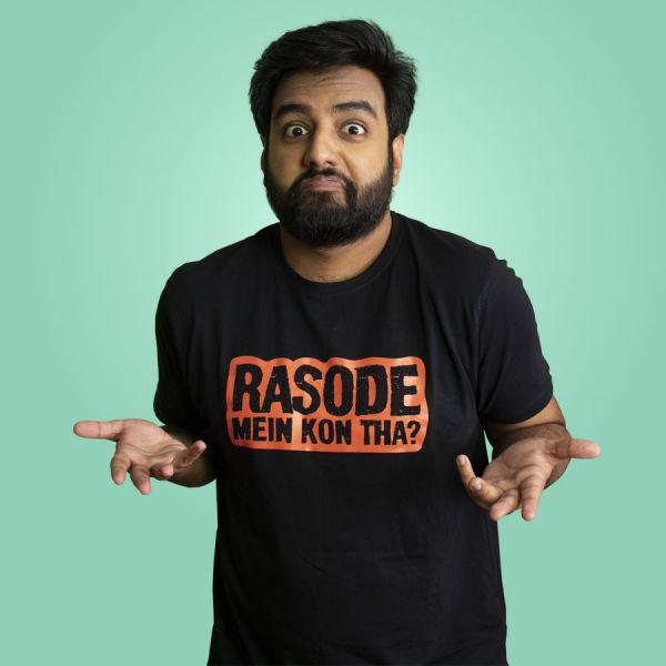 Rasode Mein Kon Tha? Black Tshirt by Yashraj Mukhate