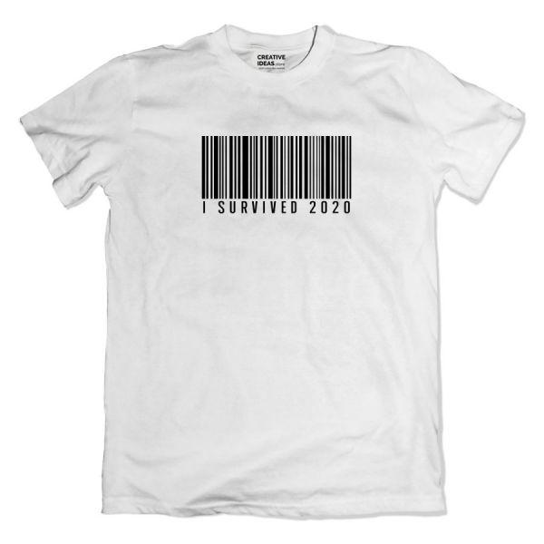 I Survived 2020 White Tshirt by Viraj Ghelani - Creative Ideas