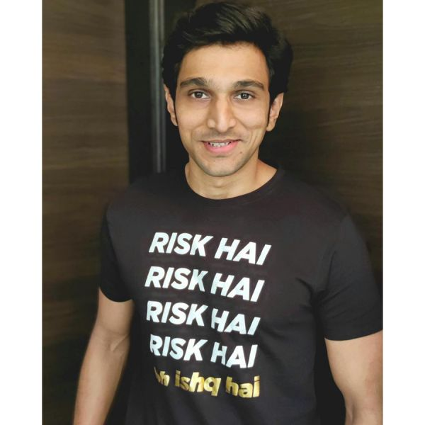 Risk Hai To Ishq Hai Black Tshirt